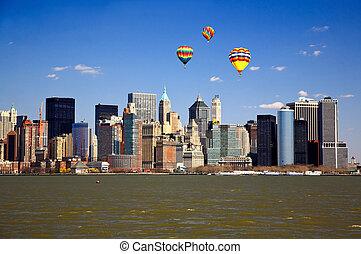 The Lower Manhattan Skyline New York City