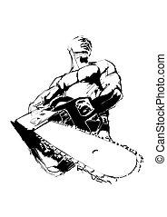 The Lumberjack - illustration of the Lumberjack