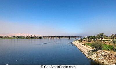 The Luxor bridge over the Nile