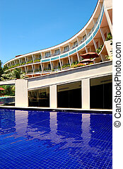 The luxury hotel with swimming pool and bar, Bentota, Sri...