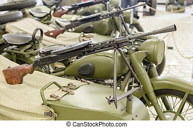 machine gun from World War II