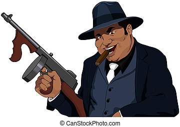 The Mafiosi with the automatic weapon