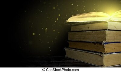 The magic book. Book with magical stories. magic book