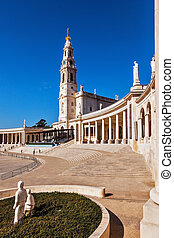 The magnificent cathedral complex and the Church. Portugal, City Fatima - Catholic pilgrimage center