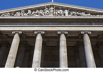 British Museum in London - The magnificent exterior of the...