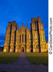 The magnificent Wells Cathedral in Somerset.