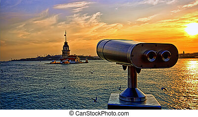 The Maiden Tower - Looking over to the Maiden Tower, in...