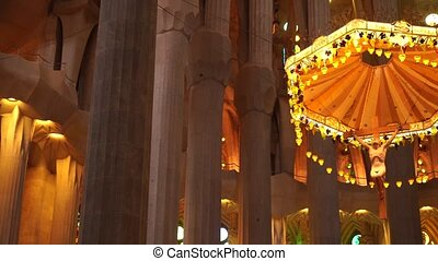 The main altar of the Sagrada Familia is located in the ...