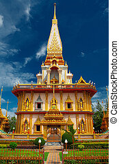 wat chalong - the main building of wat chalong on Phuket,...