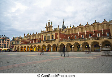 The Main Market Square in Cracow is the most important square of the Old Town in Cracow, Poland.