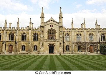 Corpus Christi College, Cambridge - The main quadrangle and...