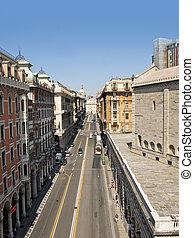 the main street of Genoa