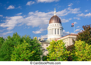 Maine State House - The Maine State House in Augusta, Maine...