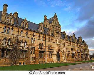 The majestic facade of Christ Church College, a constituent ...