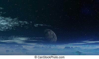 The major planet against a fantasti