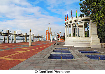 The Malecon 2000 in Guayaquil, Ecuador - View down the...