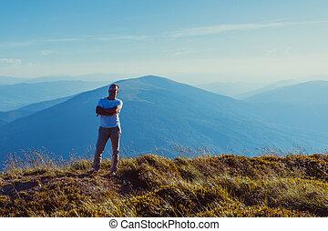The man enjoying freedom