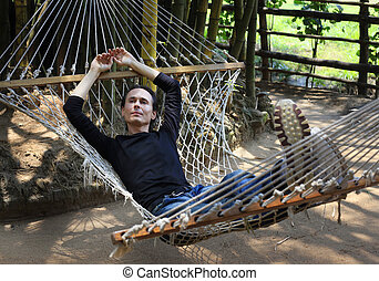 The man in a hammock