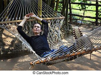 The man in a hammock