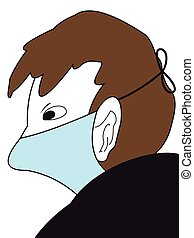 The Man in a medical mask