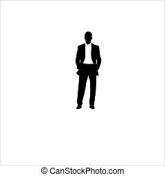 The man in a suit with a T-shirt. Vector illustration