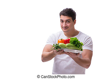 The man in healthy eating concept