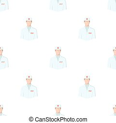 The man is a doctor in uniform. Medicine single icon in cartoon style vector symbol stock illustration web.