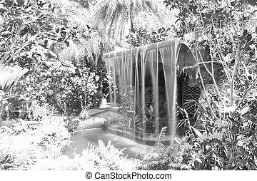 the man made waterfall