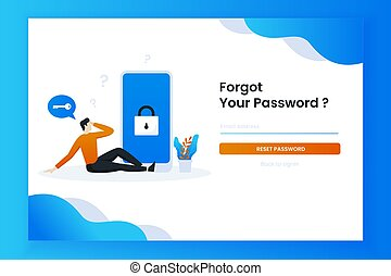 The man sat confused forgetting his password - The man sat ...