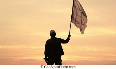 The man with the flag