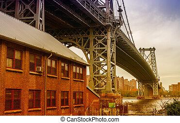 The Manhattan Bridge, New York City