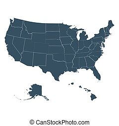 the map of America on a white background