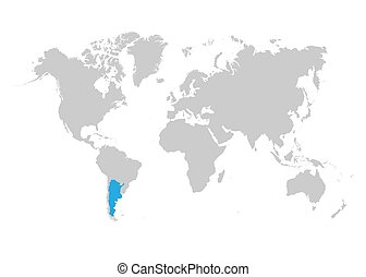 Argentina is highlighted in blue on the world map