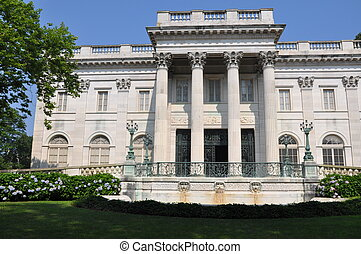 The Marble House Mansion in Newport