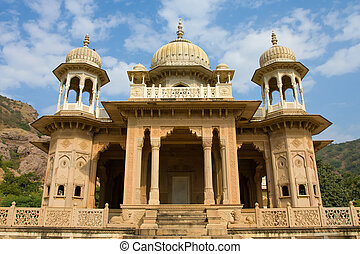 The Marble Palace in Jaipur, India .