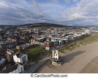 The marina housing at Swansea