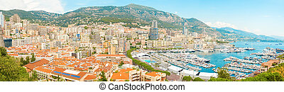 The marina in Monaco