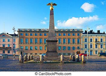 The Market Square in Helsinki, Finland