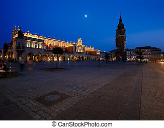 The Market Square in Krakow, Poland