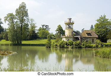 The Marlborough Tower in the Queen's Hamlet (Hameau de la Reine) in Versailles.