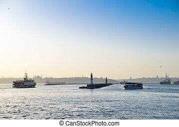 The Marmara Sea - View of the Marmara Sea in Istanbul,...