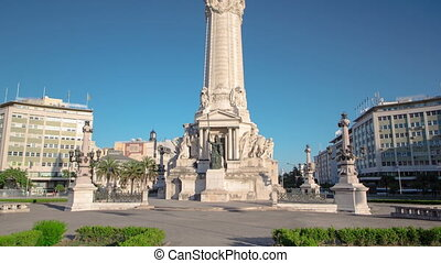 The Marquess of Pombal Square on a sunny day which is an...