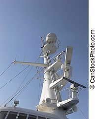 The mast of a cruse-ship.