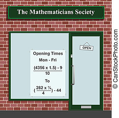 Mathematicians Society - The Mathematicians Society showing...