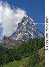 Matterhorn in Switzerland - The Matterhorn in Switzerland.