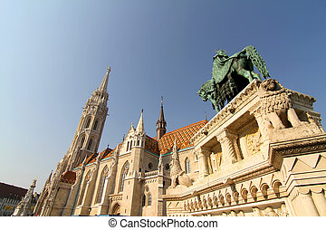 The Matthias Church in the Fisher Bastion in Budapest,...