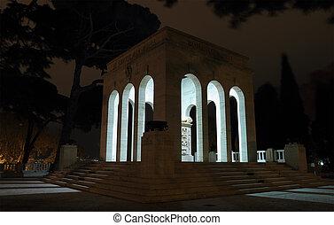 The Mausoleo Ossario Garibaldino at night - Night view of ...