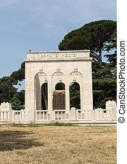 the Mausoleo Ossario Garibaldino on the Janiculum Hill in ...