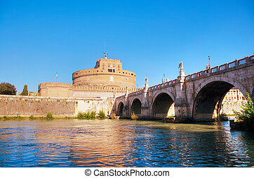 The Mausoleum of Hadrian (Castel Sant'Angelo) in Rome, Italy