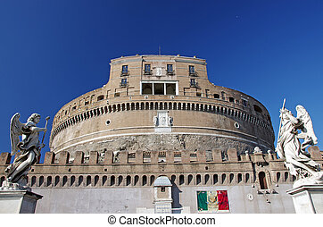 The Mausoleum of Hadrian, known also as Saint Angelo Castle in Rome